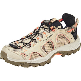 Salomon Techamphibian 3 Shoes Dame vintage kaki/bungee cord/living coral